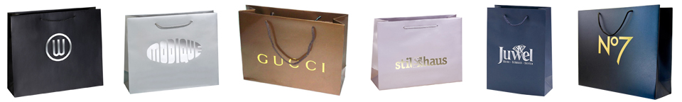 luuxry paper bags with hot stamping logo