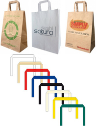 kraft paper bags with flat handle