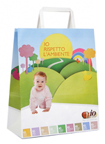 flat handles white kraft bags with full color printing