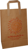 brown paper bags with flat paper handles