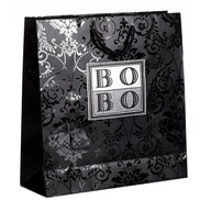 luxury paper bags with uv spot varnish pattern